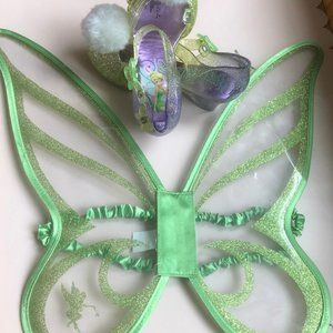 Tinker Bell Dress-up Wings and Shoes Sz 9/10Bundle